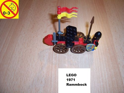 LEGO ® Castle / Knights Kingdom / Ritter Set 1971 - Black Knight's Battering Ram - Rammbock gebr.