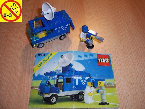LEGO ® System / City Set 6661 - Mobile TV Studio Auto + BA gebr.