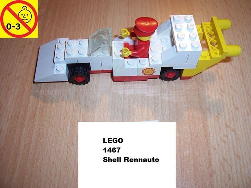 LEGO ® System / City Set 1467 - Shell Race Car - Shell Rennauto Auto gebr.