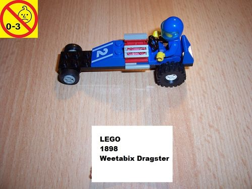 LEGO ® System / City Set 1898 - Weetabix Dragster - Dragster 2 Auto gebr.