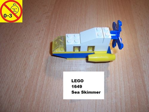 LEGO ® System / City Set 1649 - McDonalds Sea Skimmer - Schiff Boot gebr.