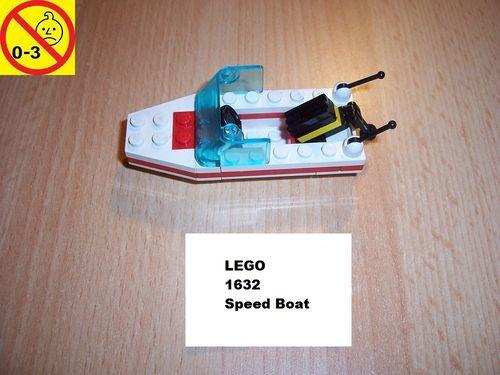 LEGO ® System / City Set 1632 - Speed Boad - Schiff Boot gebr.