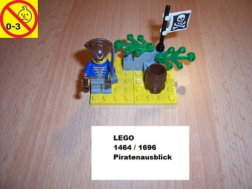 LEGO ® System / Pirate / Piraten Set 1464 / 1696 - Pirate Lookout - Piratenausblick ausguck gebr.