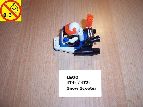 LEGO ® System / Space / Weltraum Set 1711 / 1731 - Ice Planet Snow Scooter - Patroliengleiter gebr.