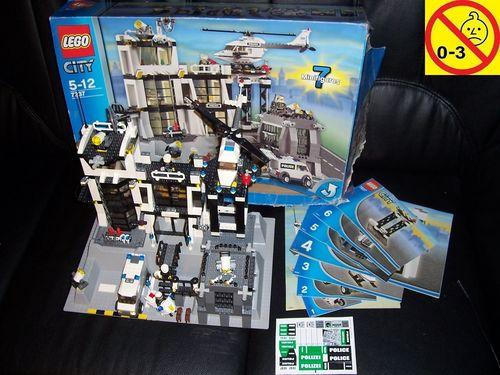 LEGO ® System / City Set 7237 - Police Station - Polizeistation 2006 Polizei + BA + OVP gebr.