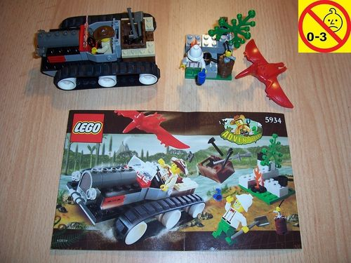 LEGO ® System / Adventurers Dino Island Set 5934 Track Master Dino Explorer Fährtenleser + BA gebr.