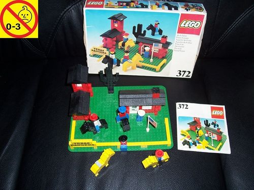 LEGO ® System / City Wild West Set 372 - Texas Rangers + BA + OVP von 1977 gebr.