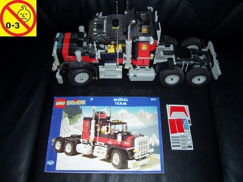 LEGO ® System / Technic / Model Team Set 5571 - Black Cat Giant Truck LKW Chrom + BA gebr.