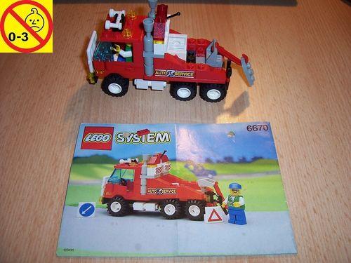 LEGO ® System / City Set 6670 - Rescue Rig - Auto Service + BA gebr.