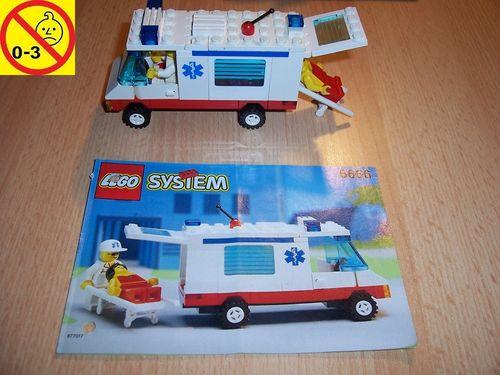 LEGO ® System / City Set 6666 - Ambulance Rettungswagen Auto + BA gebr.