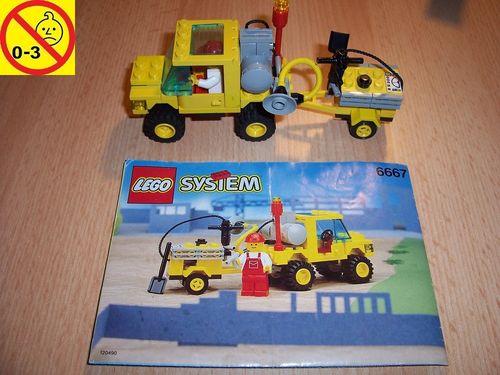 LEGO ® System / City Set 6667 - Pothole Patcher - Straßenmeisterei Auto + BA gebr.