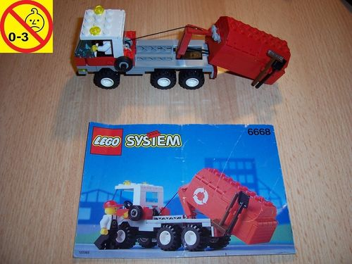 LEGO ® System / City Set 6668 - Recycle Truck - Abrollcontainer LKW Auto + BA gebr.