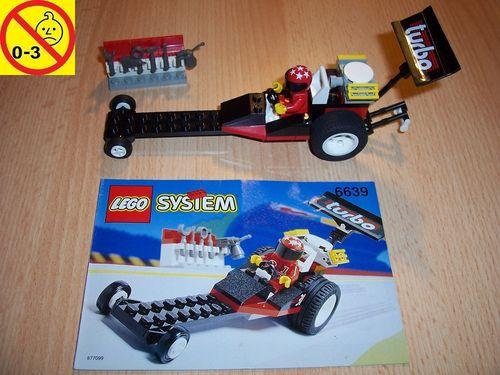 LEGO ® System / City Set 6639 - Raven Racer - Dragster Rennwagen Auto + BA gebr.