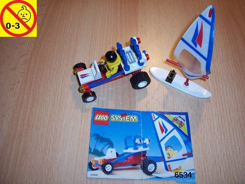LEGO ® System / City Set 6534 - Beach Bandit Surfboard - Strandbuggy mit Surfbrett + BA gebr.
