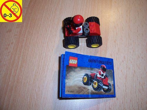LEGO ® System / City Set 1273 / 1283 / 6619 - Race Red 4WD Scorpion Auto + BA gebr.