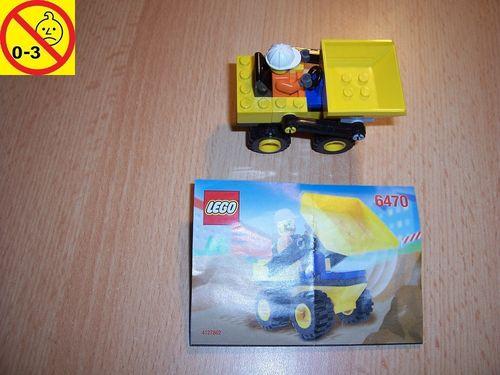 LEGO ® System / City Set 6470 - Mini-Dump Truck - Radlader Baustellenfahrzeug + BA gebr.