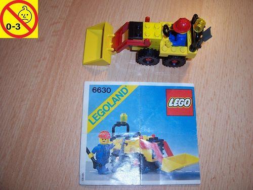 LEGO ® System / City Set 6630 - Bucket Loader - Radlader Baustellenfahrzeug + BA gebr.