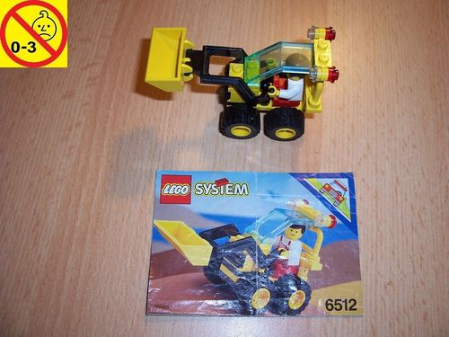 LEGO ® System / City Set 6512 - Landscape Loader - Radlader Baustellenfahrzeug + BA gebr.