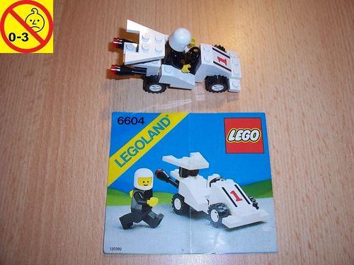 LEGO ® System / City Set 6604 - Formula-I Racer - Formel 1 Rennauto Auto + BA gebr.