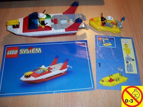 LEGO ® System / City Set 6429 - Blaze Responder - Feuerwehr Löschboot Löschschiff Schiff + BA gebr.
