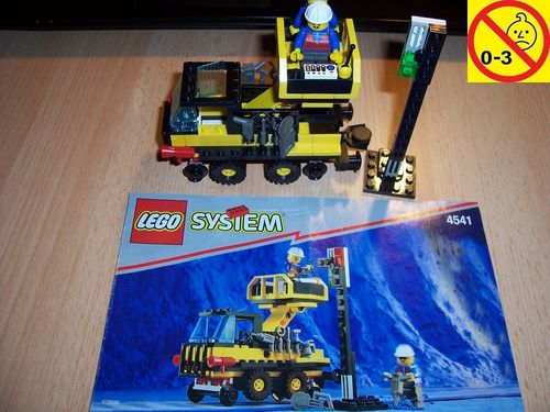 LEGO ® System / City / Train 9V Set 4541 - Road N' Rail Cherry Picker Truck Servicewagen + BA gebr.