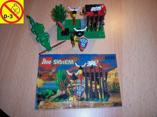 LEGO ® System / Pirate / Piraten Set 6246 - Crocodile Cage - Piratengefängnis mit Krokodil gebr.