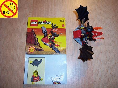 LEGO ® Castle / Fright Knights Set 2539 - Batwing Flyer mit Fledermaus Promotional Shell 5 BA gebr.