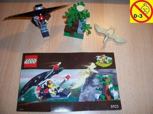 LEGO ® System / Adventurers Dino Island Set 5921 - Research Glider + Forschungsgleiter + BA gebr.