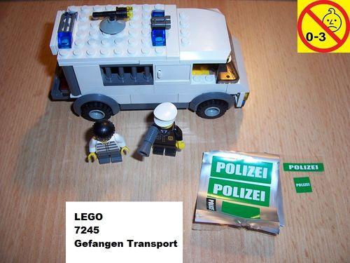 LEGO ® System / City Set 7245 - Police Prisoner Transport - Gefangenen Transport Polizei grün gebr.