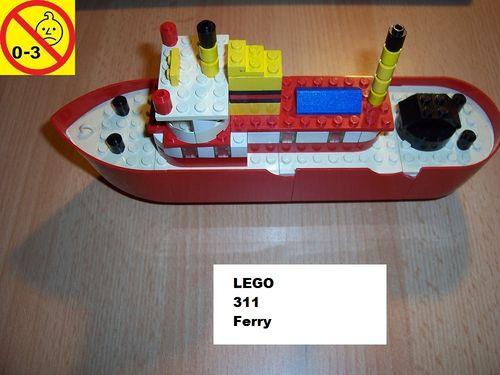 LEGO ® System / City Set 311 - Floating Boats Ferry - Fähre Schiff von 1973 gebr.