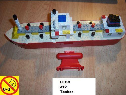LEGO ® System / City Set 312 - Floating Boats Tanker Schiff von 1973 gebr.