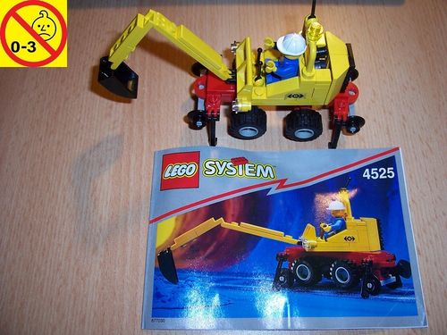 LEGO ® System / City / Train 9V Set 4525 - Road N' Rail Repair - Schienenbagger + BA gebr.