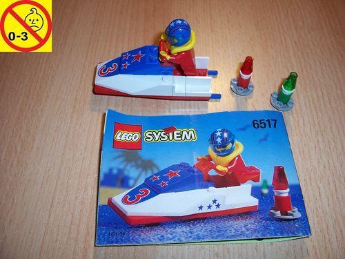 LEGO ® System / City Set 6517 - Water Jet 3 - Jet-Ski Speedboot Schiff + BA gebr.