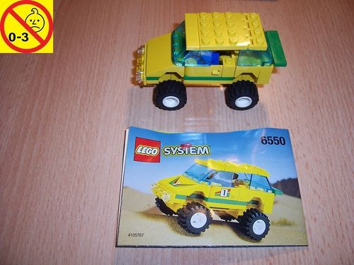 LEGO ® System / City Set 6550 - Outback Racer - Rally Jeep Rallye Auto + BA gebr.