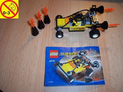 LEGO ® System / City Set 6519 - Race Turbo Tiger - Stunt Racer Auto + BA gebr.