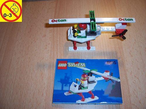 LEGO ® System / City Set 6515 - Octan Stunt Copter - Heli Hubschrauber gebr.