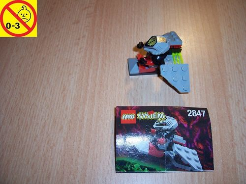 LEGO ® System / Space / Weltraum Set 2847 - UFO Flyer - Alien Patroliengleiter + BA gebr.