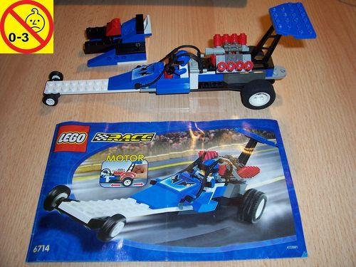 LEGO ® System / City Set 6714 - Speed Dragster - Dragster Rennwagen Pull-Back-Motor Auto + BA gebr.