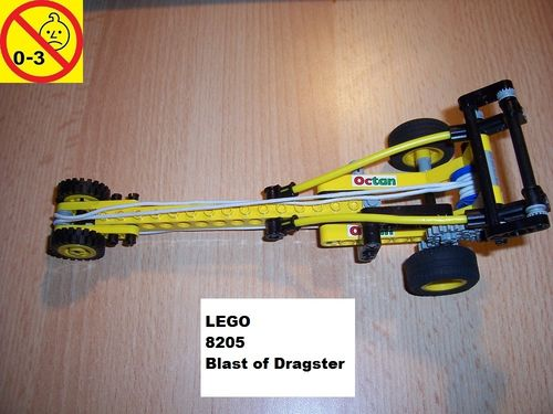 LEGO ® Technic Tech Play Set 8205 - Blast Off Dragster with Bungee Cord Power Blaster gebr.