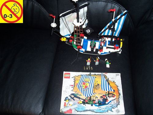 LEGO ® System / Pirate / Piraten Set 6291 - Spaniard Ship Armada Flagship Königs Flotte + BA gebr.