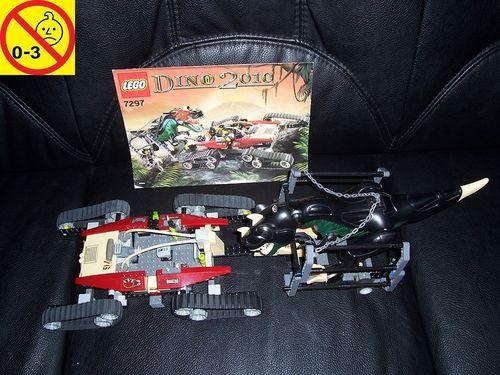 LEGO ® System / Adventurers Dino 2010 Set 7297 - Dino Track Transport - Kettenfahrzeug + BA gebr.