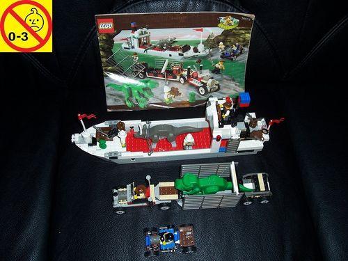 LEGO ® System / Adventurers Dino Island Set 5975 - T-Rex Transport + Dino Transportschiff + BA gebr.