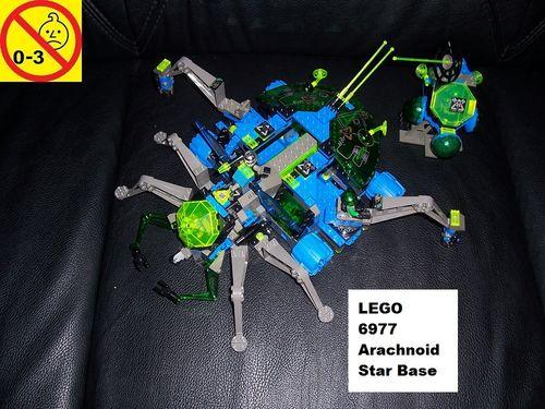 LEGO ® System / Space / Weltraum Set 6977 - Insectoids Arachnoid Star Base - Raumschiff gebr.