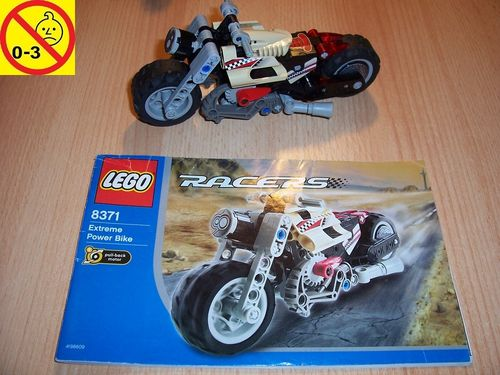LEGO ® Technic Racers Set 8371 - Extreme Power Bike mit Pull-Back-Motor + BA gebr.