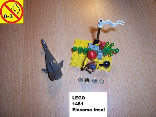 LEGO ® System / Pirate / Piraten Set 1481 - Desert Island - Einsame Insel gebr.