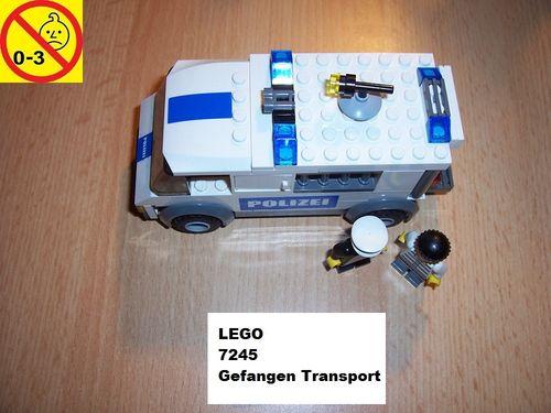 LEGO ® System / City Set 7245 - Police Prisoner Transport - Gefangenen Transport Polizei blau gebr.