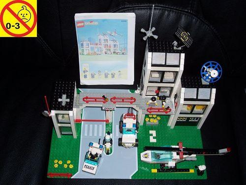 LEGO ® System / City Set 6398 - Central Precinct HQ Police Station Polizeistation 1993 Polizei gebr.