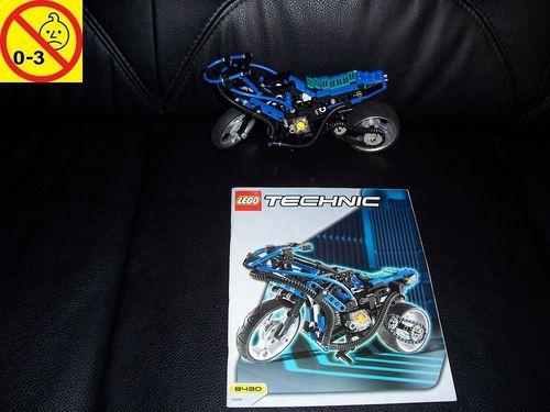 LEGO ® Technic Racers Set 8430 - Motorbike - Motorrad blau + BA gebr.