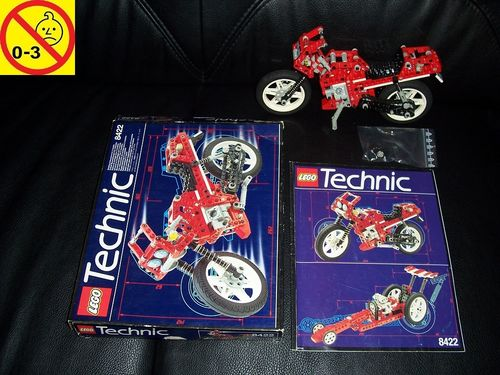 LEGO ® Technic Racers Set 8422 - V-Twin Super Bike Motorbike - Motorrad rot + BA + OVP gebr.