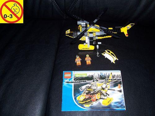 LEGO ® System / City Set 7044 - Rescue Chopper Rettungshubschrauber Hubschrauber Heli + BA gebr.